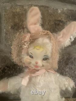 Vintage Rare Rushton Rubber Face Easter Bunny Rabbit Toy 1950s Stuffed Plush