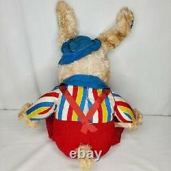 Vintage Rare Rushton Star Creation Plush Rubber Face Bunny Rabbit 50s 60s