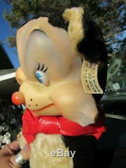 Vintage Rubber Face Plush Black Cat Kitty Large Rare My Toy Bear Rushton Gund Gr