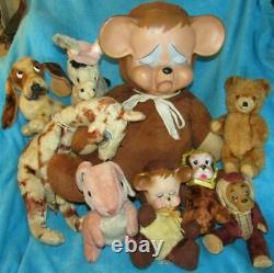 Vintage Rubber Face Plush Happy Panda Bear Knickerbocker Toy 13 Doll Rushton