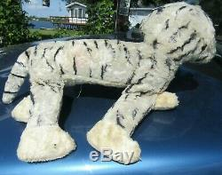 Vintage Rubber Face Plush Happy Rare Kitty Cat Timely Toy Big Tiger Gund Rushton