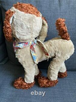Vintage Rubber Face Plush Ideal Hobo Tramp Laughing Dog Vintage Plush Dog Ideal
