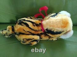 Vintage Rubber Face Plush Stuffed Animal Toy Tiger Cat Kitty Rushton or Gund