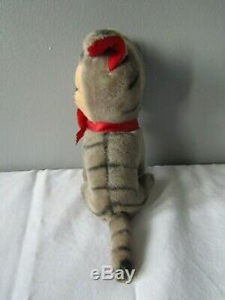 Vintage Rubber Faced Kitty Cat Plush Stuffed Animal Made in Japan