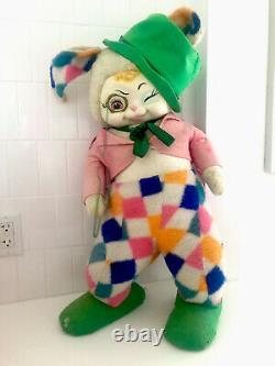 Vintage Rubberface Bunny Rushton Star Creations Plush Doll 1950s
