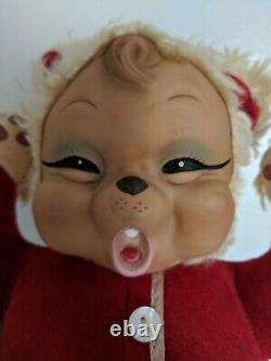 Vintage Rushton Baby Bear Vintage Rubber Face Plush