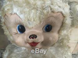 Vintage Rushton Company 1950s Rubber Face Bear Large Plush RARE