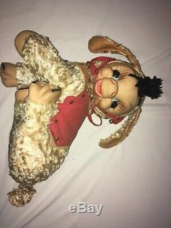 Vintage Rushton Plush Rubber Face Stuffed Animal DONKEY Rare