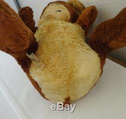 Vintage Rushton Rubber Face Crying Sad Pouting Teddy Bear Plush w Tag VHTF