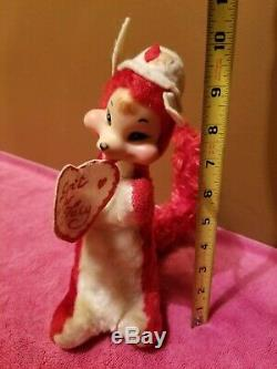 Vintage Rushton Rubber Face Fox Star Creation Don't Be Foxy Valentine Plush Rare