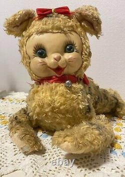 Vintage Rushton Rubber Face Plush Kitty Cat RARE