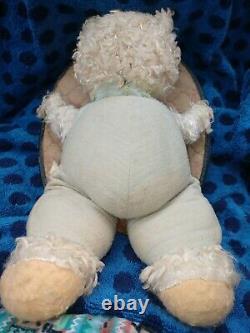 Vintage Rushton Rubber Face Plush Teddy Bear Doll