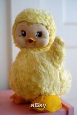 Vintage Rushton Rubber Face Queenie Mcquack Duck Chick Stuffed Plush Toy