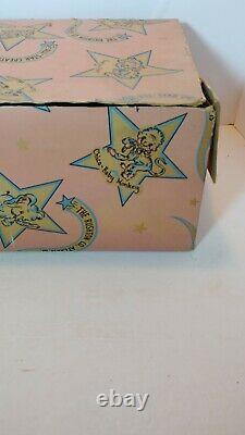 Vintage Rushton Star Creation Duck With Bonnet Original Box Rubber Face Plush