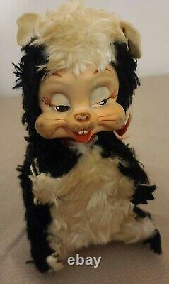 Vintage Rushton Star Creation Rubber Face Stinky Skunk Plush Good Condition