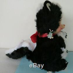 Vintage THE RUSHTON Company STINKY SKUNK Stuffed Animal Rubber Face Plush Toy