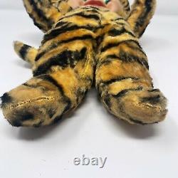 Vintage Tiger Cat Rubber Face Plush Stuffed Animal 1950s Toy Kitsch Gund