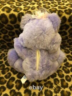 Vintage Twinkle Bear Purple Plush With Bottle