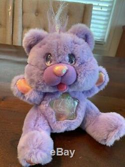 Vintage Twinkle Bears 11 Plush Purple Teddy 1995 Fantasy WORKS! RARE