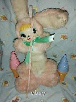 Vintage rubber face plush bunny 14