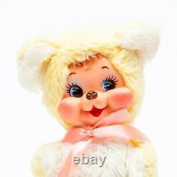 Vtg 1950's The Rushton Company Rubber Faced Teddy Bear Plush Doll Stuffed Animal
