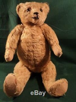 Vtg German Teddy Bear Large 18 Hump Back Mohair 1902 Jointed Plush