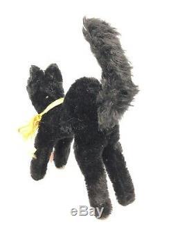 WF12 Black Halloween Cat Jopi Plush Toy german vintage with Hangtag