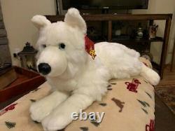 White Anee Park 24 Husky from Thailand Plush Stuffed Animal Plushie Wolf Dog