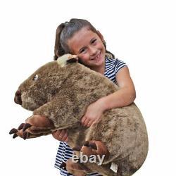 Wombat Soft plush toy Extra Large 22/55cm WAYNE by Minkplush NEW