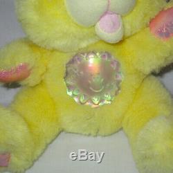 Working Vintage 1995 Yellow TWINKLE BEARS Teddy Bear Plush Stuffed Toy Rare