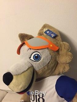 Zabivaka Wolf 150CM Soft Plush Gift Toy, FIFA World Cup 2018 Soccer Football
